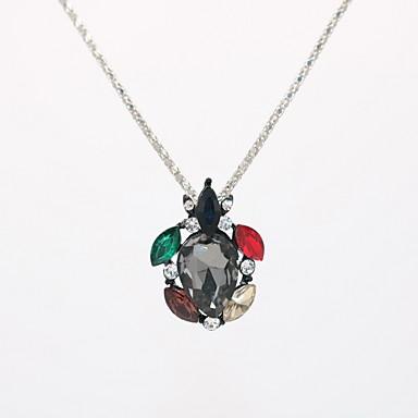povoljno Modne ogrlice-Žene Kristal Ogrlice s privjeskom Izjava Ogrlice Ogrlica Geometrijski faceter Kornjača Sa životinjama Poslastica Statement Jedinstven dizajn pomodan Reciklirani papir Krom Crn 42 cm Ogrlice Jewelry