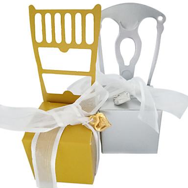 povoljno Svadbeni poklončići-Nepravilan Pearl papira Naklonost Holder s Satin Bow Kućanski sitnice / Poklon kutije - 50 kom.