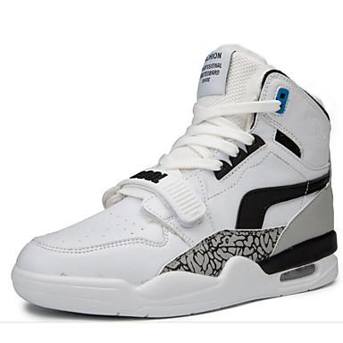 สำหรับผู้ชาย รองเท้าสบาย ๆ PU ฤดูหนาว รองเท้ากีฬา สำหรับวิ่ง ขาวและน้ำเงิน / ขาวและเหลือง / ขาว
