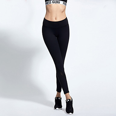 9ee1a28b8edec Women's Patchwork Yoga Pants Sports Solid Color Mesh High Rise Tights  Fitness Gym Workout Activewear Breathable Quick Dry Sweat-wicking Tummy  Control High ...