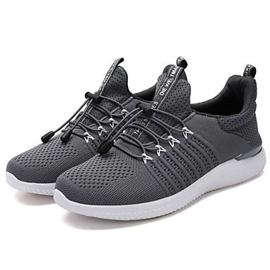 สำหรับผู้ชาย รองเท้าสบาย ๆ Tissage Volant ฤดูร้อนฤดูใบไม้ผลิ รองเท้ากีฬา สำหรับวิ่ง สีดำ / ฟ้า / สีเทา