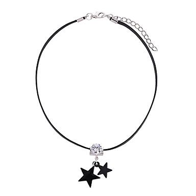31e839ffba6 Women's Choker Necklace Necklace Charm Necklace Imitation Diamond Star  Korean Sweet Fashion Elegant Silver 30 cm Necklace Jewelry 1pc For Gift  Daily School ...