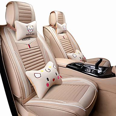 Car Seat Covers ชุดเบาะรองศีรษะและเอว สีม่วง / กาแฟ / สีดำ / สีแดง ใยสังเคราะห์ / ผ้าโพลีเอสเตอร์ Cartoon / ธรรมดา สำหรับ Universal ทุกปี General Motors