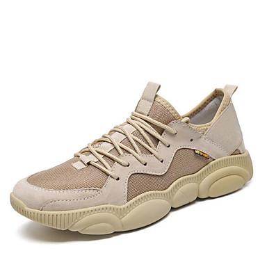 สำหรับผู้ชาย รองเท้าสบาย ๆ Synthetics ฤดูร้อนฤดูใบไม้ผลิ รองเท้ากีฬา วสำหรับเดิน สีดำ / ขาว / สีน้ำตาล