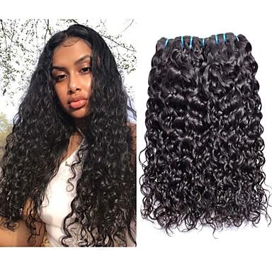 povoljno Ekstenzije od ljudske kose-3 paketa Brazilska kosa Water Wave Remy kosa Ljudske kose plete Ekstenzije od ljudske kose 8-28 inch Prirodna boja Isprepliće ljudske kose Klasični Sexy Lady Najbolja kvaliteta Proširenja ljudske kose