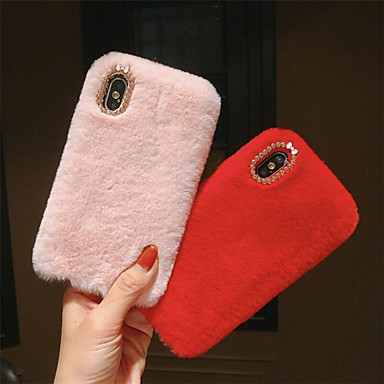 povoljno iPhone maske-Θήκη Za Apple iPhone XS / iPhone XR / iPhone XS Max Uradi sam Stražnja maska Jednobojni Tvrdo Tekstil