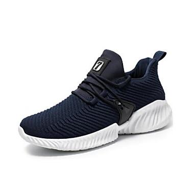 สำหรับผู้ชาย รองเท้าสบาย ๆ Tissage Volant ฤดูร้อนฤดูใบไม้ผลิ รองเท้ากีฬา สำหรับวิ่ง สีดำ / ขาว / ฟ้า / การกรีฑา