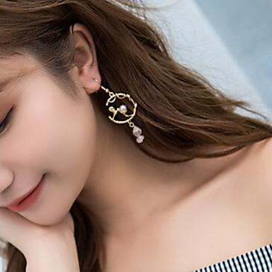 สำหรับผู้หญิง Drop Earrings Stylish ไข่มุกเทียม ต่างหู เครื่องประดับ สีทอง สำหรับ ทุกวัน 1 คู่