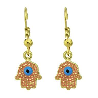 povoljno Modne naušnice-Žene Viseće naušnice Geometrijski Stilski Jedinstven dizajn Naušnice Jewelry Pink Hamsa Za Dnevno 1 par