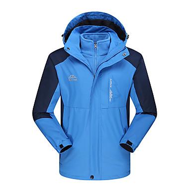 สำหรับผู้ชาย Hiking Jacket ลายต่อ กลางแจ้ง ฤดูหนาว กันน้ำ กันลม ป้องกันไฟฟ้าสถิตย์ เพลาสำหรับความร้อน Tops แคมป์ปิ้ง / การปีนเขา / เที่ยวถ้ำ กีฬาฤดูหนาว