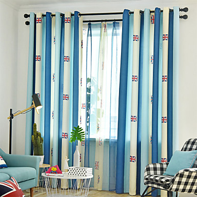 [$45.96] Contemporary Blackout One Panel Curtain Living Room Curtains