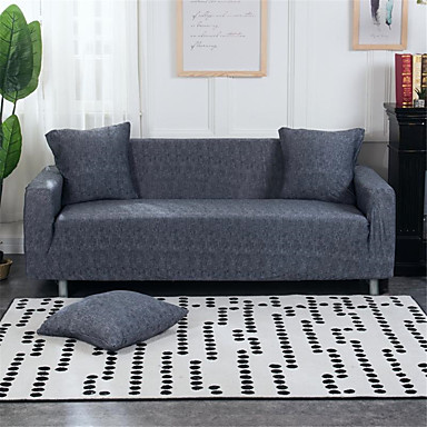 cheap Slipcovers-Slipcovers Sofa Cover Modern Grey Yarn Dyed Polyester/ Cotton Blend Couch Cover