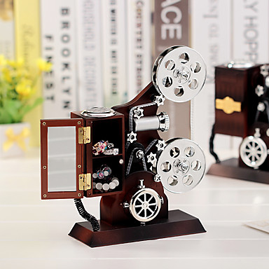 โปรเจคเตอร์กล่องดนตรีสไตล์คลาสสิกกล่องดนตรีกล่องเครื่องประดับตกแต่งบ้าน