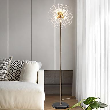 preiswerte Home&Living-Nordische moderne Luxuskristallkugelfeuerwerke spielen die aufrechten Hintergrundlichter der Persönlichkeitschönheits-Schaufenster-Stehlampe kreativen für Wohnzimmerschlafzimmer die Hauptrolle