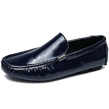 สำหรับผู้ชาย สไตล์อินเดียนแดง หนัง ฤดูใบไม้ผลิ / ตก ไม่เป็นทางการ / อังกฤษ รองเท้าส้นเตี้ยทำมาจากหนังและรองเท้าสวมแบบไม่มีเชือก ไม่ลื่นไถล สีดำ / ไวน์ / ขาว / สำนักงานและอาชีพ / รองเท้าขับขี่