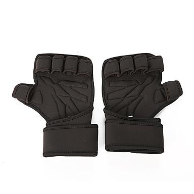 Workout Gloves ซิลิโคน ทนทาน Wrist Support Full Palm Protection & Extra Grip สายคล้องกันลื่น ฟิตเนส การยกน้ำหนัก ออกไปทำงาน สำหรับ ผู้ชาย