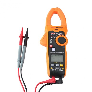 Peakmeter ac / dc c lamp meter pm2128s มือถือแบบไม่สัมผัสแรงดันไฟฟ้าปัจจุบัน c lamp meter ไฟฟ้าเครื่องมือวัด