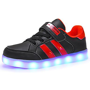 preiswerte Schuhe für Kinder-Jungen / Mädchen Leuchtende LED-Schuhe PU Sneakers Kleinkind (9m-4ys) / Kleine Kinder (4-7 Jahre) / Große Kinder (ab 7 Jahren) LED Weiß / Schwarz Sommer