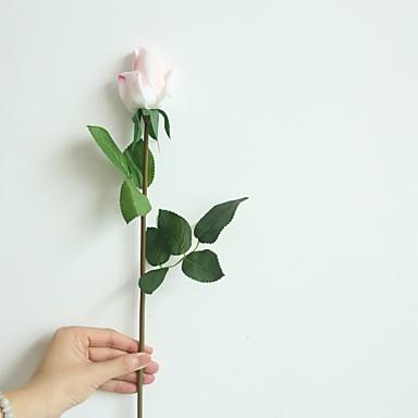 ดอกไม้ประดิษฐ์ 1 สาขา คลาสสิก สมัยใหม่ร่วมสมัย กุหลาบ ดอกไม้วางบนโต๊ะ