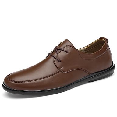 Ανδρικά Δερμάτινα παπούτσια Συνθετικά Άνοιξη / Φθινόπωρο Oxfords Αναπνέει Μαύρο / Καφέ