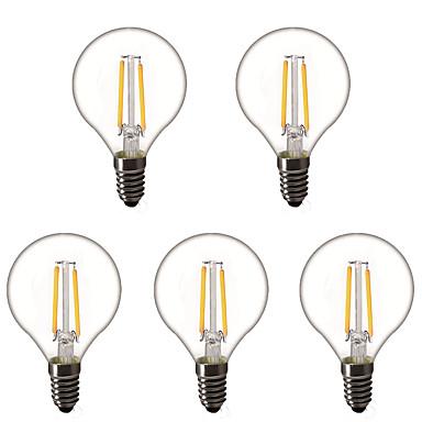 preiswerte LED Glühbirnen-5 Stück 1.5 W LED Kugelbirnen LED Glühlampen 200 lm E14 E26 / E27 G45 2 LED-Perlen Hochleistungs - LED Dekorativ Warmes Weiß 220-240 V 220 V 230 V