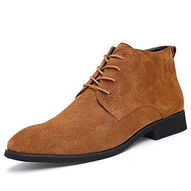 สำหรับผู้ชาย Fashion Boots หนังนิ่ม / Synthetics ฤดูใบไม้ร่วง & ฤดูหนาว ไม่เป็นทางการ / อังกฤษ บูท รักษาให้อุ่น รองเท้าบู้ทหุ้มข้อ สีดำ / สีเทา / สีน้ำตาล