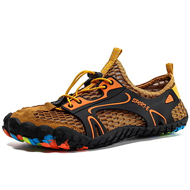 cheap Sports Shoes for Summer-Men's Comfort Shoes Mesh Summer / Spring & Summer Sporty Athletic Shoes Water Shoes / Upstream Shoes Breathable Black / Army Green / Yellow / Non-slipping