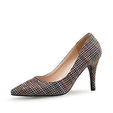 สำหรับผู้หญิง รองเท้าส้นสูง ส้น Stiletto Pointed Toe Synthetics หวาน ฤดูใบไม้ผลิ & ฤดูใบไม้ร่วง / ฤดูร้อนฤดูใบไม้ผลิ สีดำ / ผ้าขนสัตว์สีธรรมชาติ / พรรคและเย็น / ทุกวัน / พรรคและเย็น