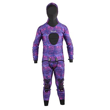 YON SUB สำหรับผู้ชาย Wetsuits เต็ม 3.5มม. SCR Neoprene ชุดดำน้ำ รักษาให้อุ่น ความยืดหยุ่นสูง ซึ่งยืดหยุ่น แขนยาว 2 Pieces - การดำน้ำ กีฬาทางน้ำ อำพราง ฤดูใบไม้ร่วง ฤดูใบไม้ผลิ ฤดูหนาว