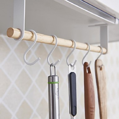 คุณภาพสูง กับ ไม้ / เหล็ก ราว & ที่จับ / ชั้นทำความสะอาดถ้วยดูด สำหรับเครื่องทำอาหาร / Kitchen ครัว การเก็บรักษา 1 pcs