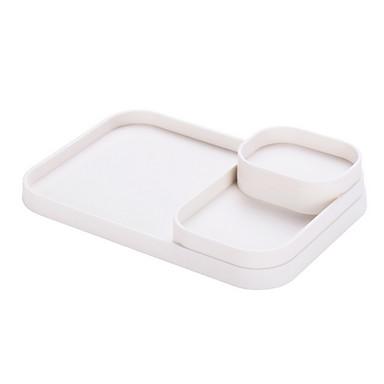 คุณภาพสูง กับ Plastics ถาดใส่กระดาษทิชชู ใช้เป็นประจำ ครัว การเก็บรักษา 2 pcs