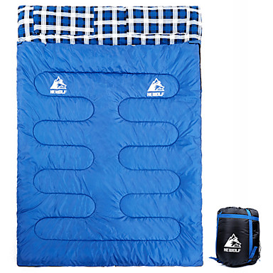 cheap Sleeping Bags & Camp Bedding-Hewolf Sleeping Bag Outdoor Camping Cuboid 10 °C Hollow Cotton Portable Lightweight Windproof Breathable Rain Waterproof Thick Spring &  Fall Winter for Camping / Hiking / Caving Traveling