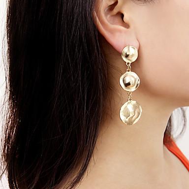 สำหรับผู้หญิง Drop Earrings ทางเรขาคณิต โชคดี Punk แฟชั่น ต่างหู เครื่องประดับ สีทอง / สีเงิน สำหรับ ปาร์ตี้ ทุกวัน ทำงาน คลับ เทศกาล 2pcs