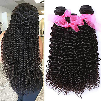 3 Bundles / กลุ่ม ผมมาเลเซีย ความหงิก Kinky Curly ผมเวอร์จิน 100% Remy Hair Weave Bundles เครื่องประดับศรีษะ มนุษย์ผมสาน มัดผม 8-28 inch สีธรรมชาติ สานเส้นผมมนุษย์ Odor Free