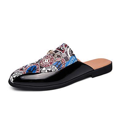 Ανδρικά Παπούτσια άνεσης Νάπα Leather Καλοκαίρι Δουλειά / Καθημερινό Σαμπό & Mules Περπάτημα Αναπνέει Λευκό