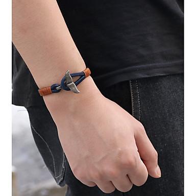 voordelige Herensieraden-Heren Dames Lederen armbanden Armband Retro Vissen Vintage Modieus Leder Armband sieraden Zwart / Bruin / Blauw Voor Lahja Dagelijks Avond Feest Carnaval Straat
