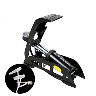 billige Sykkeltilbehør-SAHOO Sykkel Pumper Bike Floor Pump med måler Bærbar Lettvekt Holdbar Presis oppblåsning Stabil Til Vei Sykkel Fjellsykkel Sykling Aluminium Svart