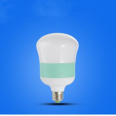 1pc 15 W หลอด LED กลม 710-810 lm E26 / E27 14 ลูกปัด LED ขาวเย็น 220-240 V