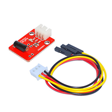 levne Elektrické vybavení-bílý vibrační senzor (červený) s 3pin dupontovým kabelem