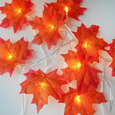 1 เซ็ต 20 leds สตริงแสงสีแดงใบเมเปิ้ล props ใบเมเปิ้ลไฟกลางคืนวันขอบคุณพระเจ้าวันหยุดตกแต่งบ้าน usb