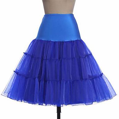 เจ้าสาว โลลิต้าแบบคลาสสิก 1950s หนึ่งชิ้น ชุดเดรส Petticoat ตูตู กระโปรงผายก้น สำหรับผู้หญิง เด็กผู้หญิง ตูเล่ เครื่องแต่งกาย สีดำ / ขาว / สีม่วง Vintage คอสเพลย์ ปาร์ตี้ Performance เสมอเข่า เจ้าหญิง