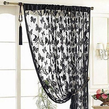 ร่วมสมัย กึ่งเชียร์ หนึ่งช่อง ม่าน ห้องนอน   Curtains