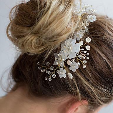 โลหะผสม Head Chain กับ ดอกไม้ 1 ชิ้น งานแต่งงาน หูฟัง