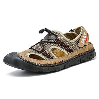 Homens Sapatos Confortáveis Com Transparência Primavera Verão Esportivo / Casual Sandálias Aventura / Tênis Anfíbio Não escorregar Botas Cano Médio Preto / Cinzento / Khaki / Ao ar livre