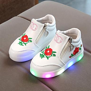 preiswerte Schuhe für Kinder-Mädchen Komfort PU Sneakers Kleinkind (9m-4ys) / Kleine Kinder (4-7 Jahre) / Große Kinder (ab 7 Jahren) Reißverschluss Schwarz / Rot / Rosa Frühling / Herbst / Gummi