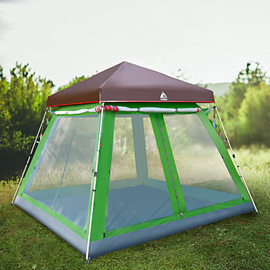 6644f75d54 Hewolf 8 person Family Tent Outdoor Windproof Rain Waterproof Wearable  Single Layered Poled Camping Tent >3000 mm for Camping / Hiking / Caving  Picnic Glass ...