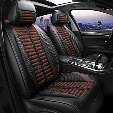 voordelige Auto-interieur accessoires-5 zitplaatsen vier seizoenen universele autostoelhoes / linnen materiaal / pu leer / airbag-compatibiliteit / verstelbaar en afneembaar
