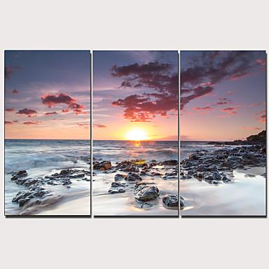 Print ลายผ้าแคนวาสยืด - ทะเล แบบดั้งเดิม ที่ทันสมัย สามภาพ ศิลปะภาพพิมพ์