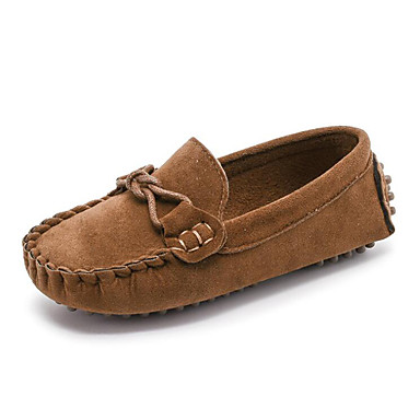 preiswerte Schuhe für Kinder-Jungen Mokassin Wildleder Loafers & Slip-Ons Fuchsia / Dunkelbraun / Khaki Frühling / Herbst / Gummi