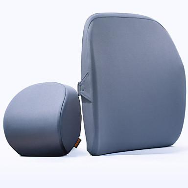 Car Seat Covers ชุดเบาะรองศีรษะและเอว สีฟ้า / สีเทา ผ้าโพลีเอสเตอร์ ธุรกิจ สำหรับ Universal